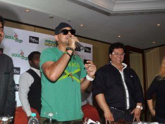 Sean Paul concert and press meet at Andheri Sports complex in Mumbai.  (Photo : IANS)