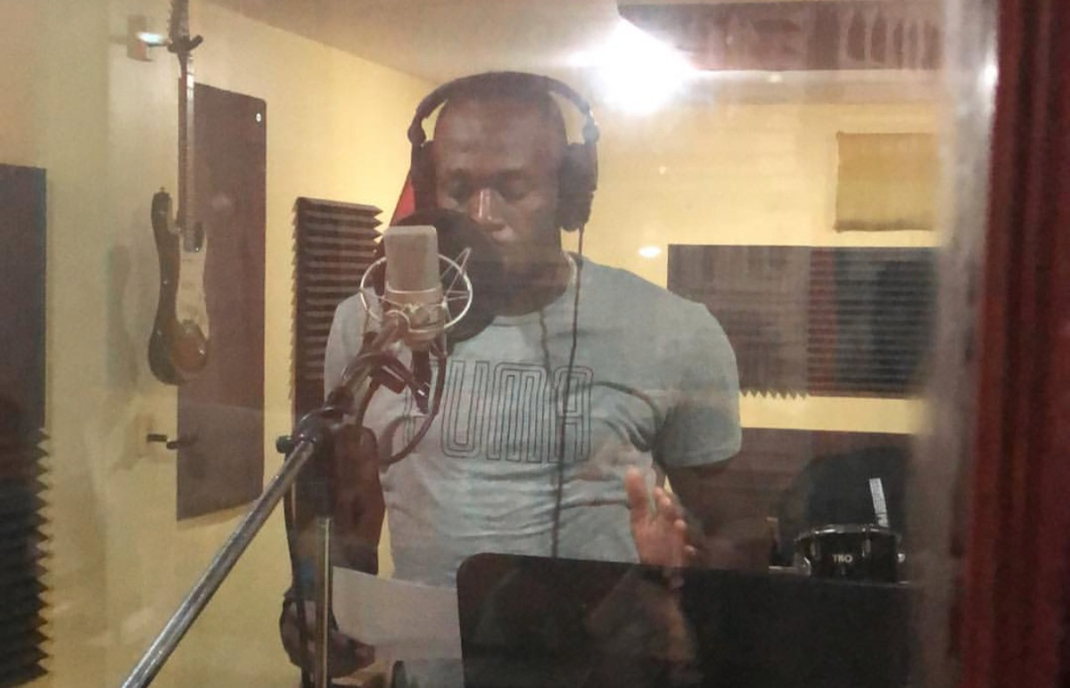 Usain Bolt in the studio