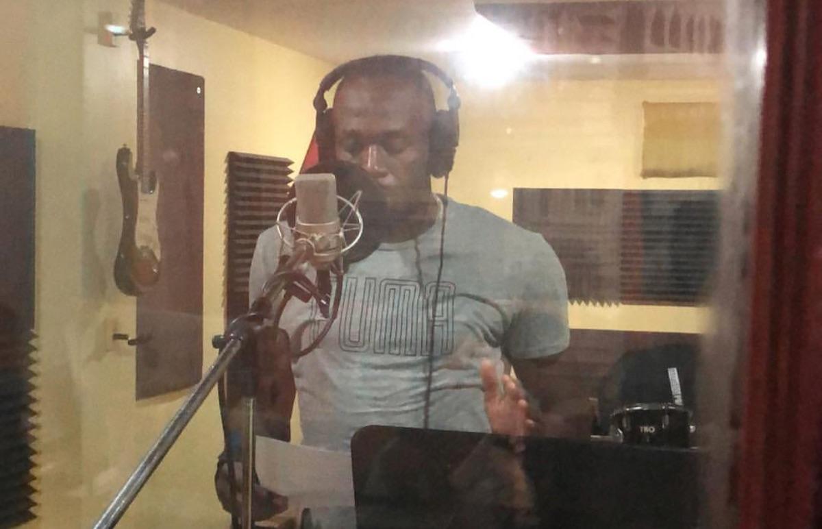 Usain Bolt in the studio