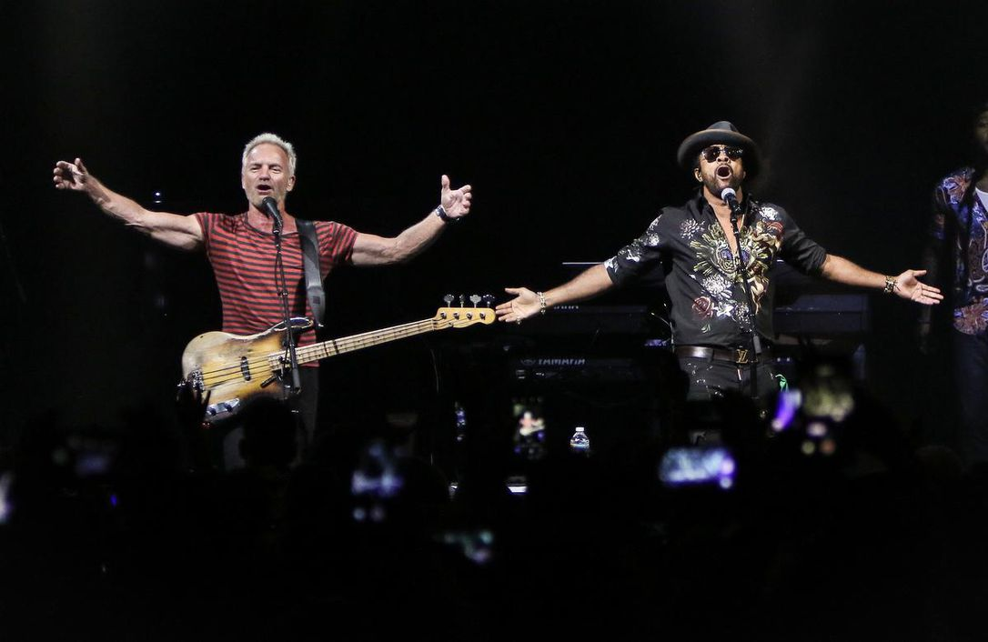 Sting and Shaggy perform during the 44/876 Tour at Fillmore Miami Beach on September 15, 2018. Ben Rayner writes that their sold-out Toronto show really wasn't as dreadful as you'd imagine.
