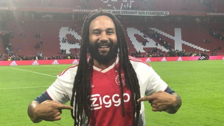 Bob Marley's son sings Three Little Birds at half-time of Ajax match