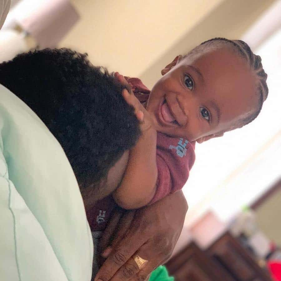 Christopher Martin and Brittny Newman Baby Boy Aiden Plays With Daddy