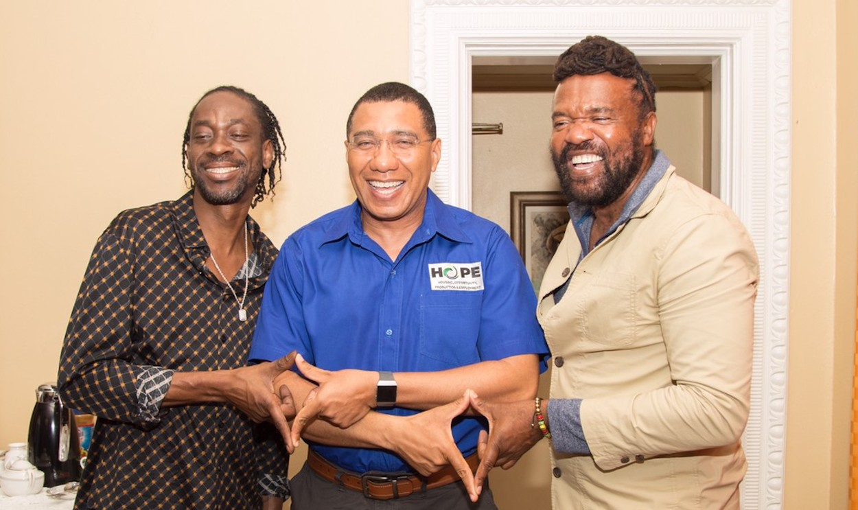 PM Andrew Holness Meets With Bounty Killer, Queen Ifrica & Tony ...
