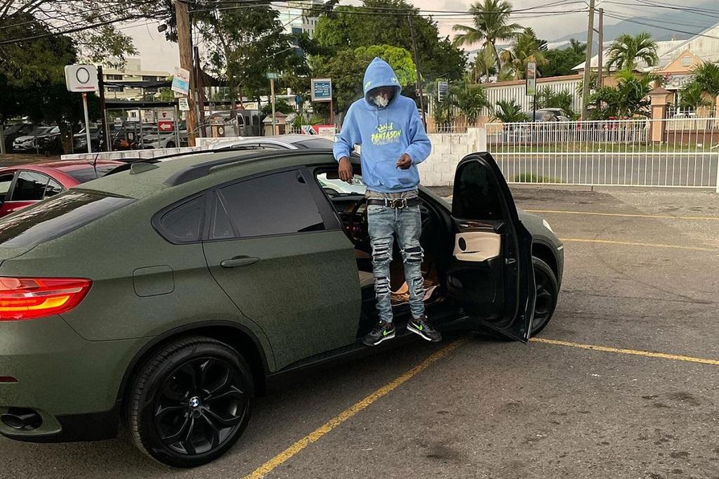 Skillibeng with his new BMW X6.