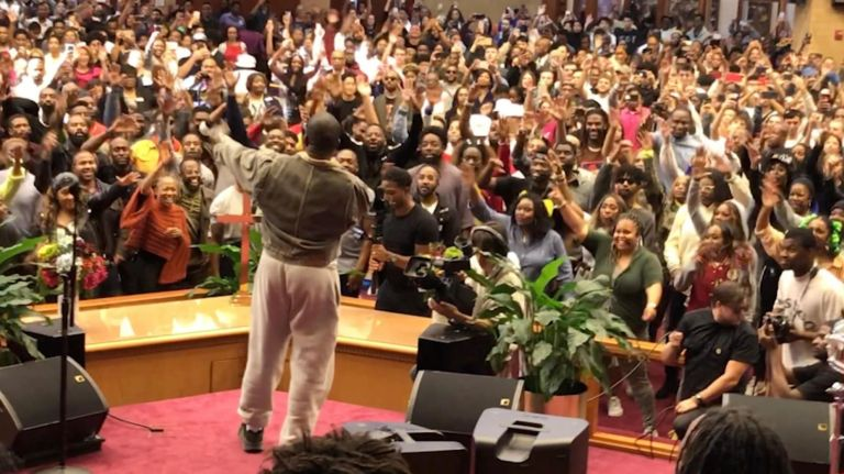 Kanye West performs gospel music at Queens church   amNewYork