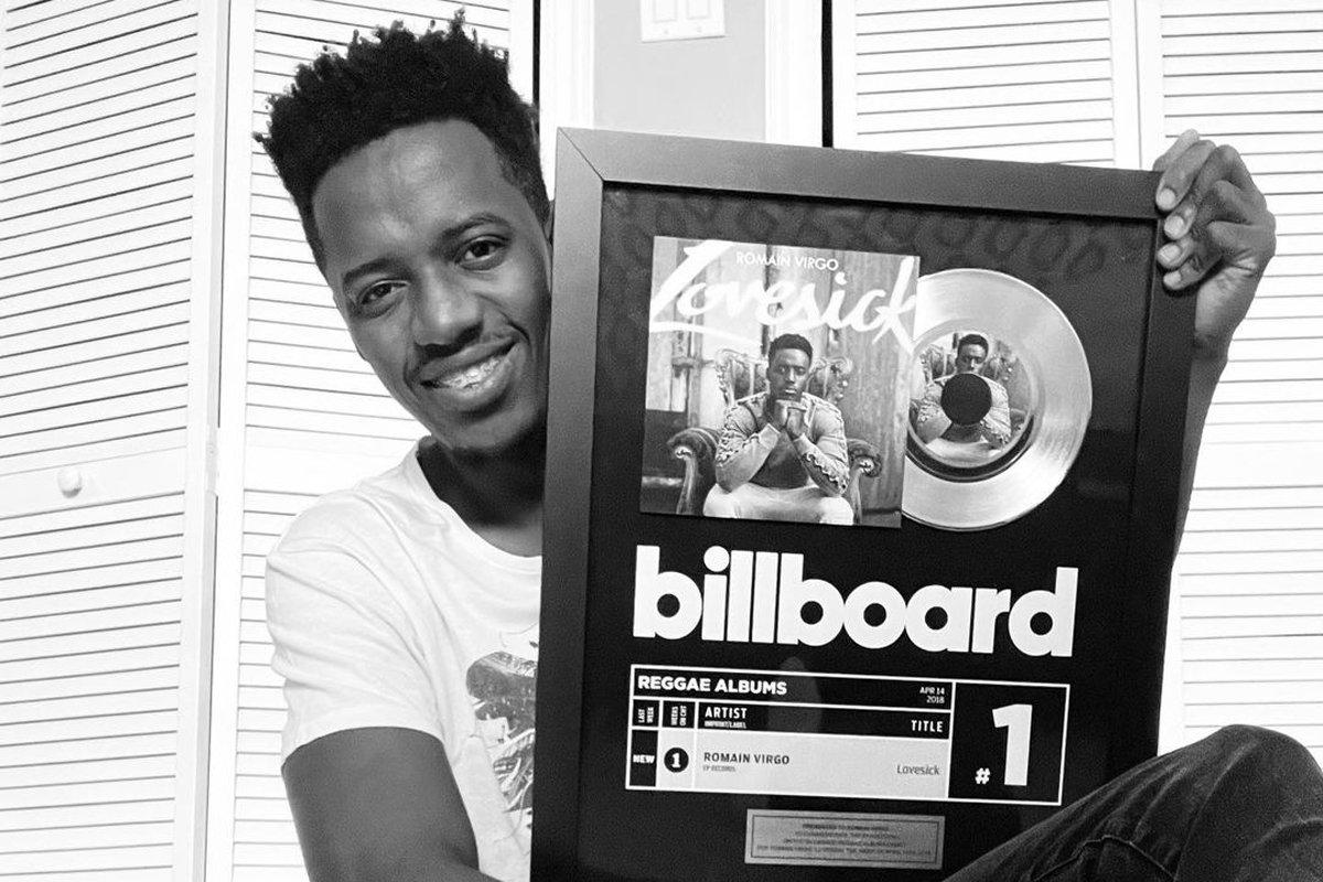 Romain Virgo Elated After Getting Billboard Plaque For 'Lovesick' Album –  DancehallMag