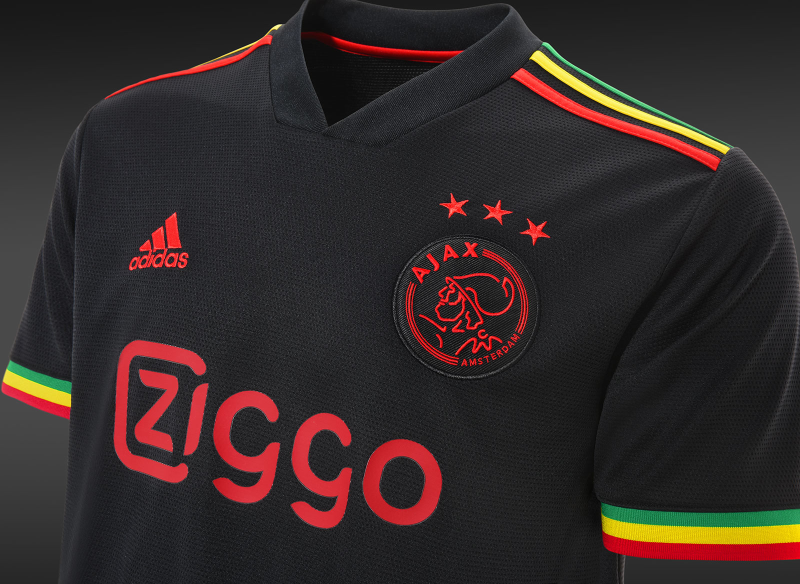 Adidas and Ajax Salute Bob Marley With 'Three Little Birds' Kit   Muse by  Clio